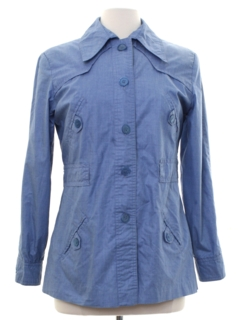 1970's Womens Mod Shirt-Jac Jacket