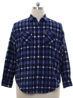 1980's Mens Flannel Gas Station Shirt