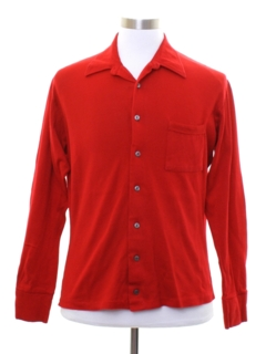 1960's Mens Mod Knit Sport Shirt