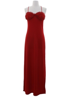 1990's Womens Prom Or Cocktail Wiggle Maxi Dress