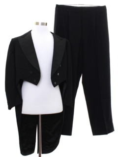 1930's Mens Formal Tail Suit Tuxedo Suit