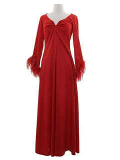 1970's Womens Prom or Cocktail Disco Maxi Dress