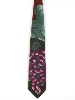 1980's Mens Wide Handpainted Swing Necktie