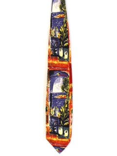 1960's Mens Wide Picasso Art Necktie