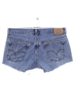 1990's Womens Levis 505s Denim Cut Off Shorts