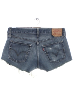 1990's Womens Levis 527s Denim Cut Off Shorts