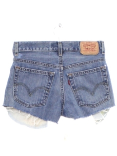 1990's Womens Levis 550s Denim Cut Off Shorts