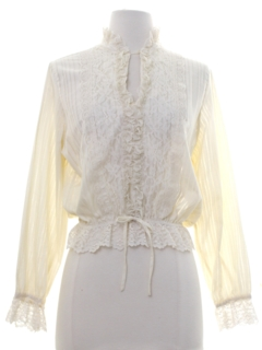 1970's Womens Totally 80s Lace Shirt