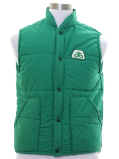1970's Mens Work Style Ski Vest Jacket