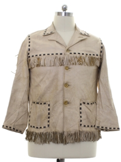 1950's Mens Western Fringed Leather Jacket