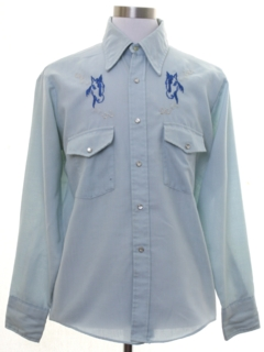 1960's Mens Embroidered Western Shirt