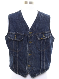 1980's Mens Lee Storm Rider Denim Vest