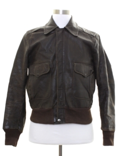 1960's Mens Bomber Leather Flight Jacket