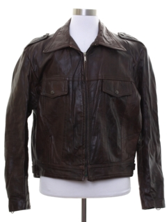 1970's Mens AMF Harley Davidson Motorcycle Leather Jacket
