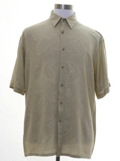 1990's Mens Island Style Rayon Sport Shirt