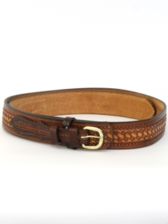 1990's Mens Accessories - Stamped Leather Western Belt