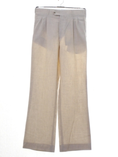 1980's Mens Totally 80s Pleated Linen Pants