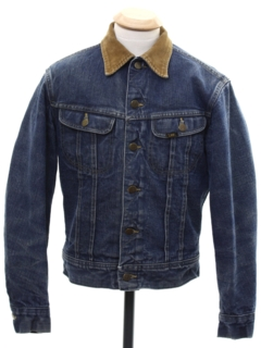 1970's Unisex Ladies or Boys Lee Storm Rider Western Denim Jacket