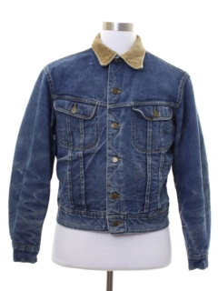 1970's Mens Lee Storm Rider Western Denim Jacket