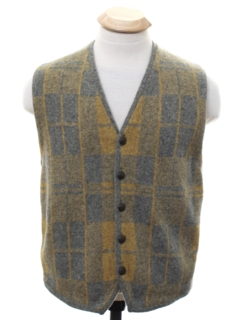 1960's Unisex Ladies or Boys Mod Wool Vest