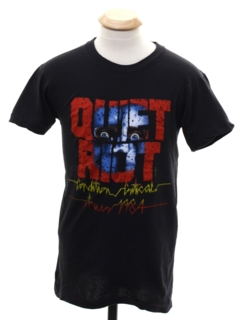 1980's Unisex Ladies or Boys Quiet Riot T-Shirt
