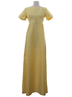 1960's Womens Lorrie Deb Designer Maxi Dress