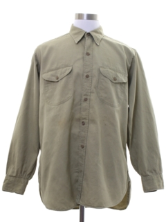 1950's Mens Grunge Work Shirt