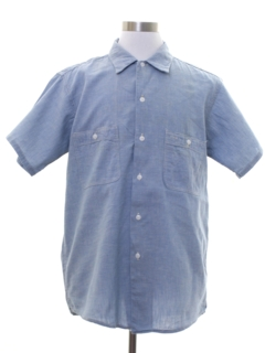 1950's Mens Chambray Work Shirt