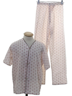1960's Mens or Boys Mod Pajamas