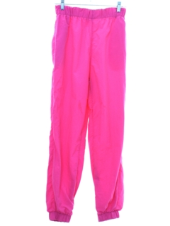 1980's Unisex Totally 80s Baggy Neon Pants