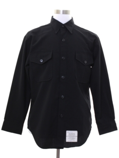 1980's Mens US Navy Uniform Work Shirt