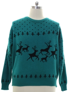 1980's Mens Reindeer Sweater