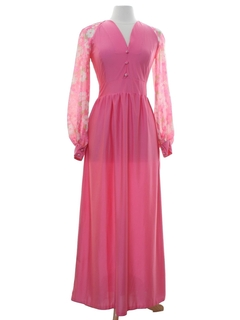 1960's Womens Maxi Cocktail or Prom Dress