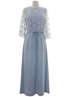 1970's Womens Cocktail or Prom Maxi Dress
