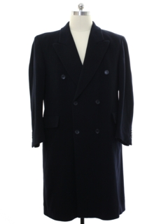 1980's Mens Cashmere Overcoat Jacket