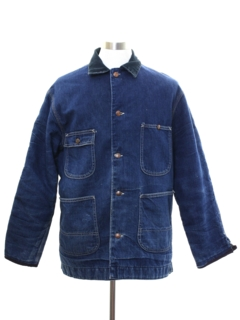 1960's Mens Denim Car Coat Jacket