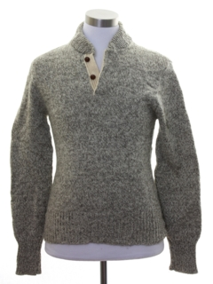 1980's Mens Wool Fisherman Style Sweater