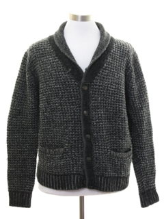 1990's Mens Cardigan Fisherman Style Sweater