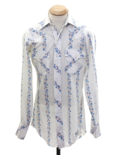 1970's Unisex Ladies or Boys Hippie Style Western Shirt