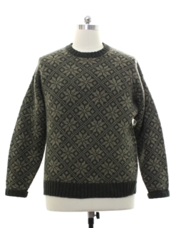 1980's Mens Wool Snowflake Sweater