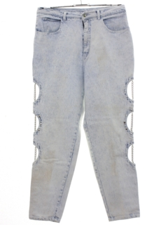 1990's Womens Wicked 90s Highwaisted Punk Grunge Denim Jeans Pants