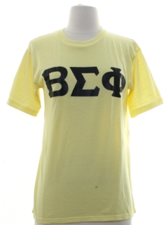 1980's Womens College Beta Ipsilon Omega Sorority T-shirt