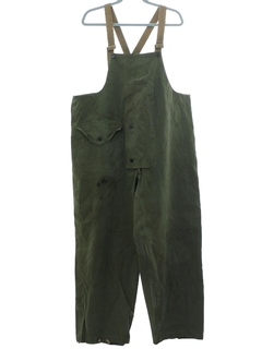 1940's Mens WW2 Navy Bib and Brace Waders Overalls