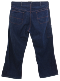 1960's Mens Wrangler Blue Bell Wide Leg High Rise Denim Jeans Pants