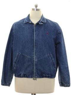 1980's Mens Ralph Lauren Polo Denim Zip Jacket