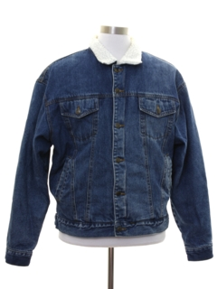 1980's Mens Denim Sherpa Jacket