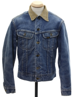 1970's Unisex Ladies or Boys Lee Storm Rider Denim Jacket