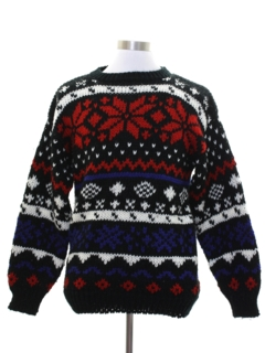 1980's Mens Snowflake Sweater