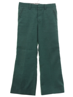 1970's Mens Wool Flared Pants