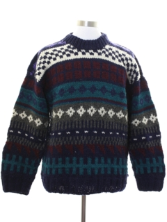 1980's Unisex Ecuadorian Heavy Wool Sweater